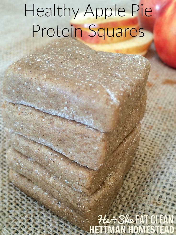 Apple Pie Protein Squares