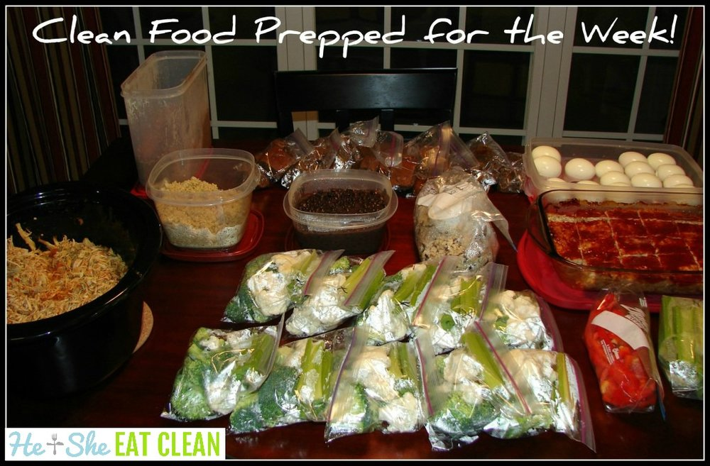 Clean eating food prepped for the week!