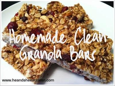 Homemade Clean Granola Bars