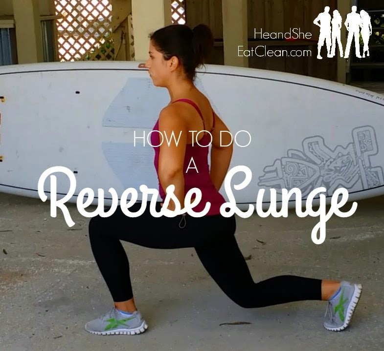 how to do a reverse lunge - video tutorial