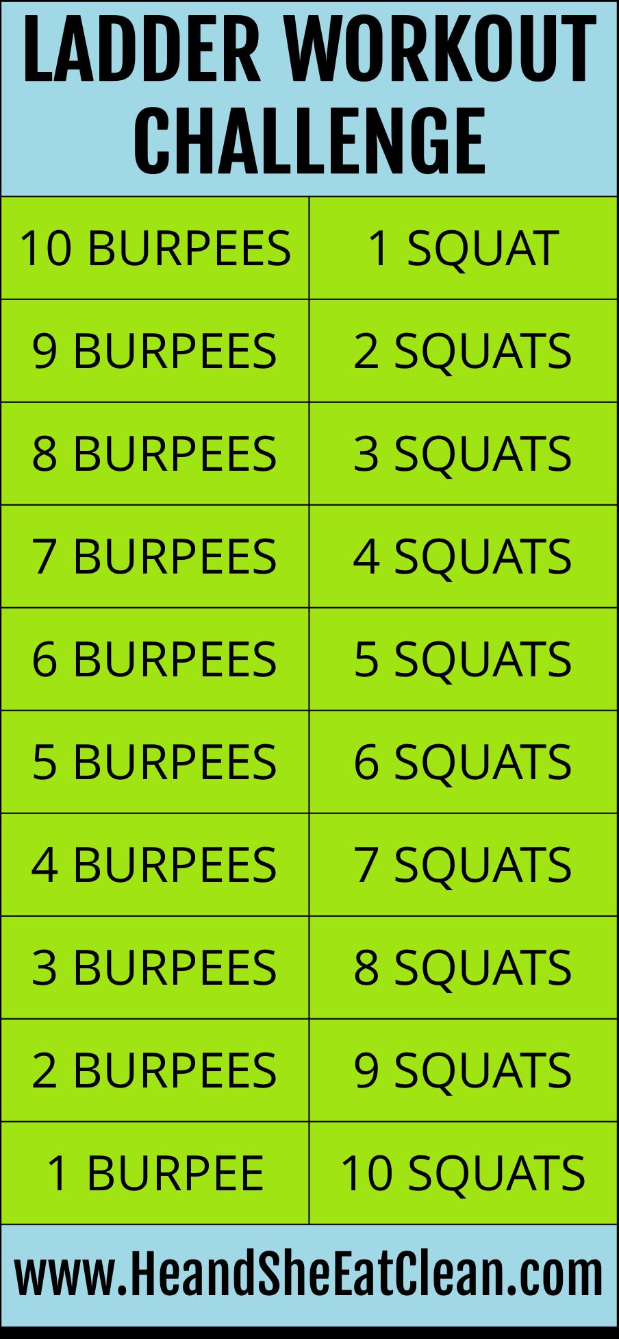 Ladder Workout Challenge