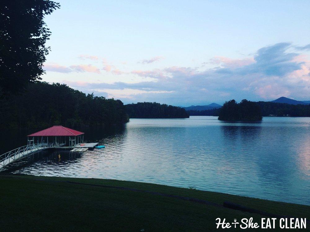 Lake Chatuge in Hiawassee, Georgia