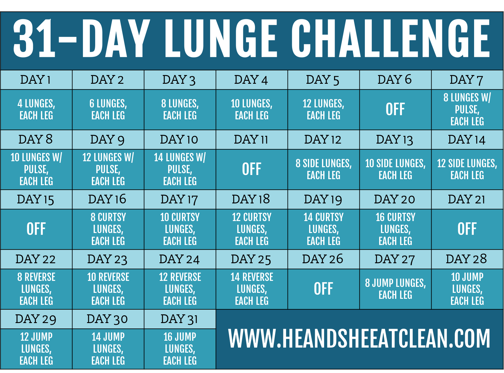 31-Day Lunge Challenge