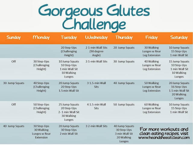 Monthly Fitness Challenge: Gorgeous Glutes Challenge | He and She Eat Clean