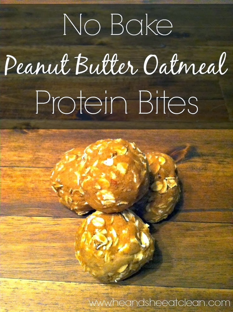 No-Bake Peanut Butter Oatmeal Protein Bites