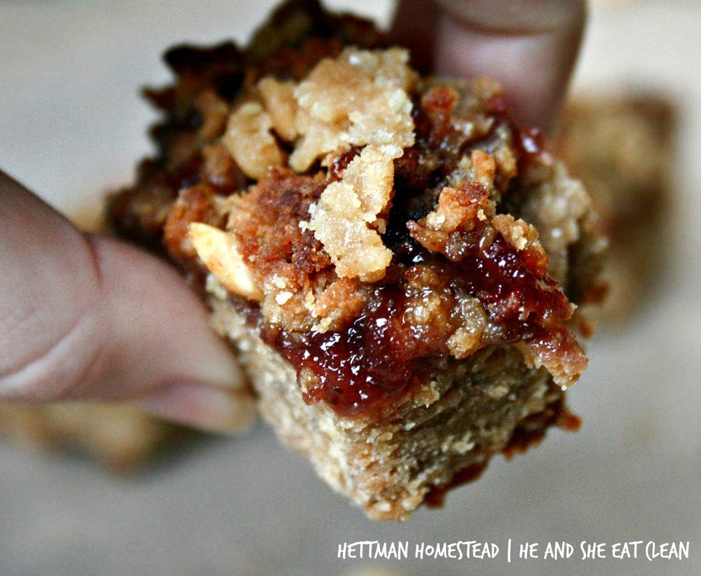Clean Eat Recipe: Peanut Butter & Jelly Bars