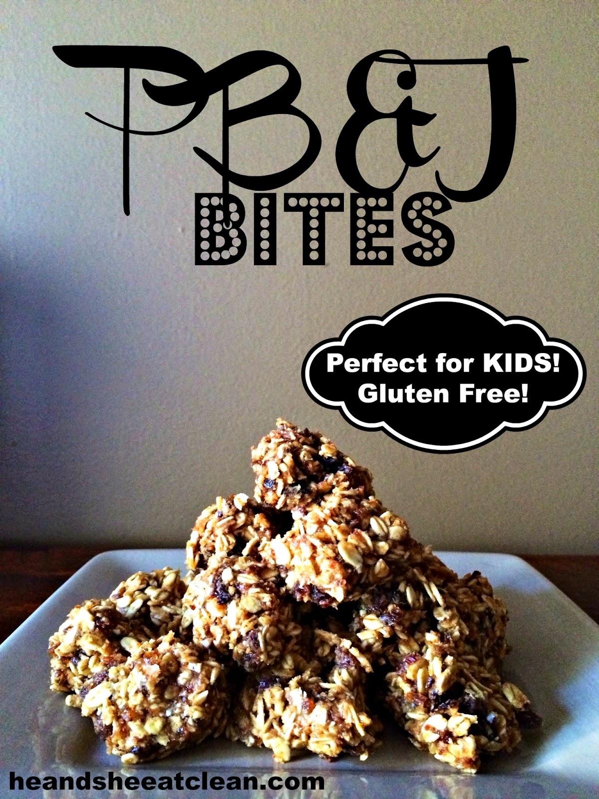 Gluten Free Peanut Butter & Jelly Bites