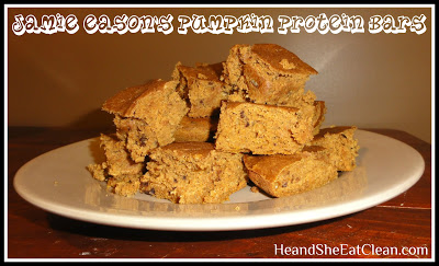 Clean Eat Recipe :: Jamie Eason's Pumpkin Protein Bars | He and She Eat Clean