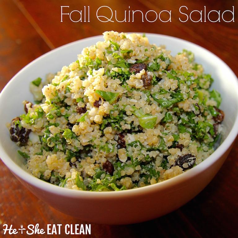 Fall Cauliflower Quinoa Salad with Raisins | He and She Eat Clean