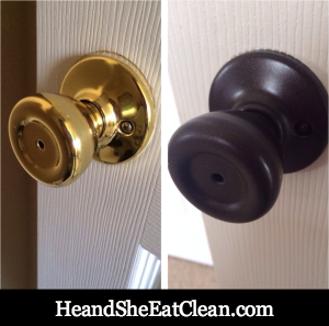 Updated Doorknobs With Paint | He And She Eat Clean