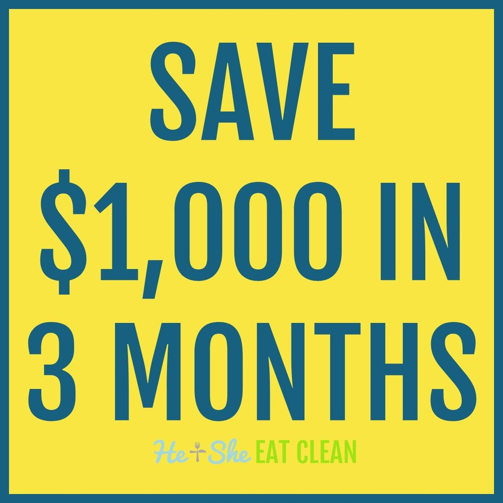 Save $1,000 in 3 Months