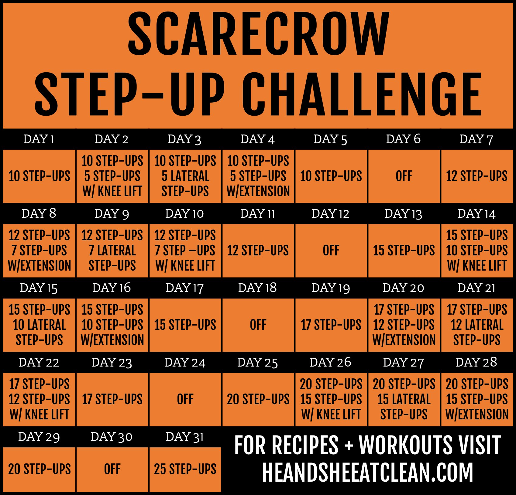 31-Day Scarecrow Step-Up Challenge