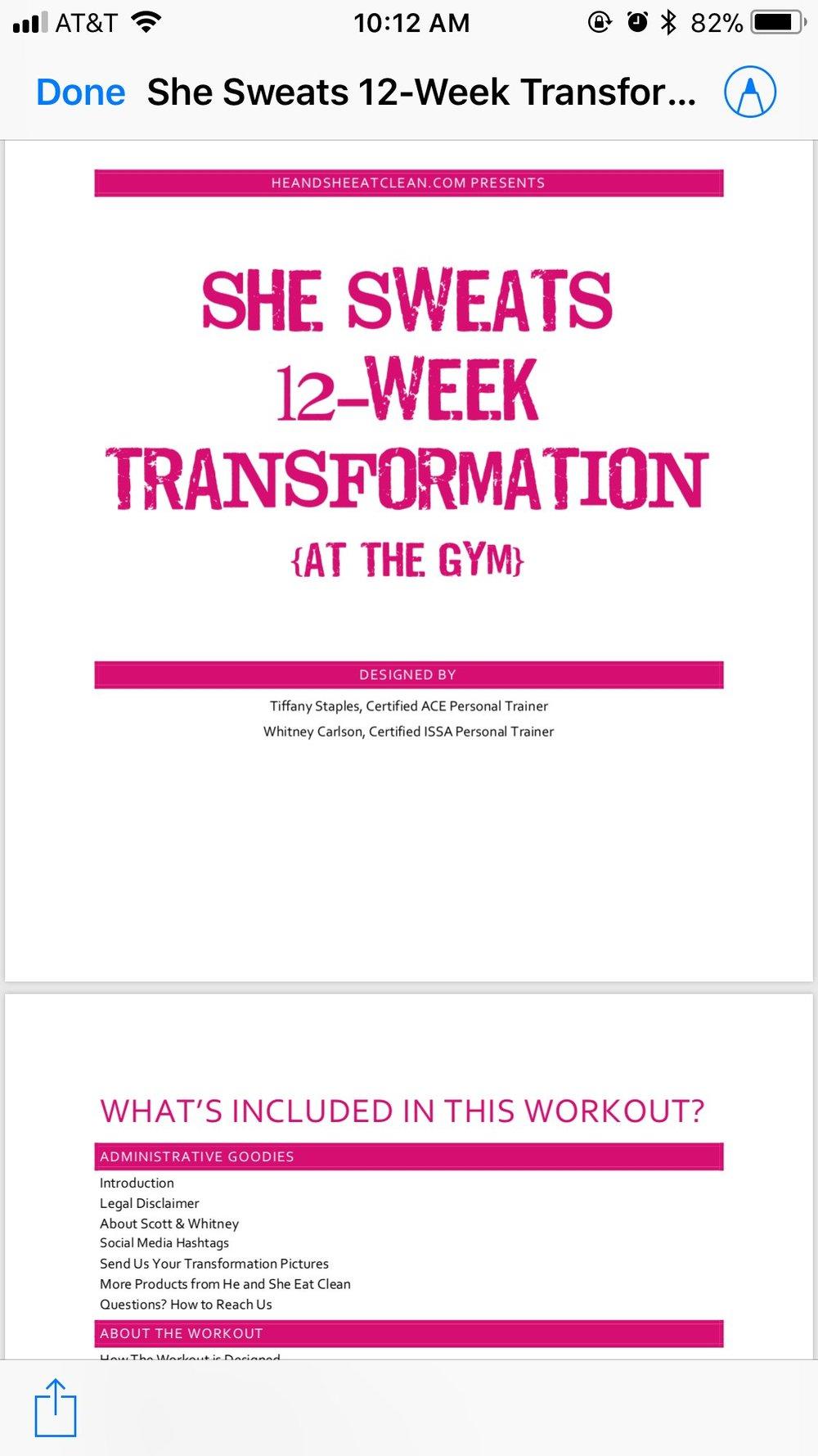 She Sweats 12-Week Transformation
