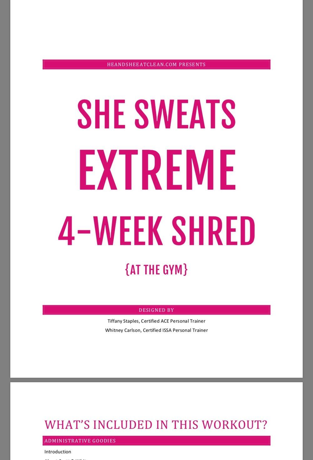 She Sweats Extreme 4-Week Shred   He and She Eat Clean