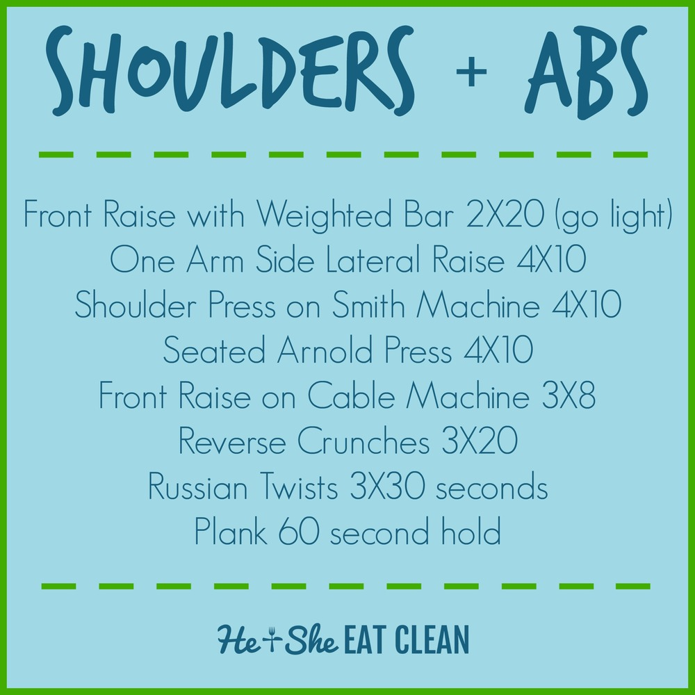 Shoulders + Abs Workout for Women | He and She Eat Clean