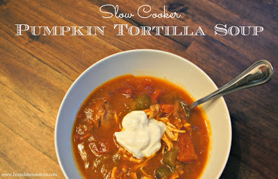 Pumpkin Tortilla Slow Cooker Soup