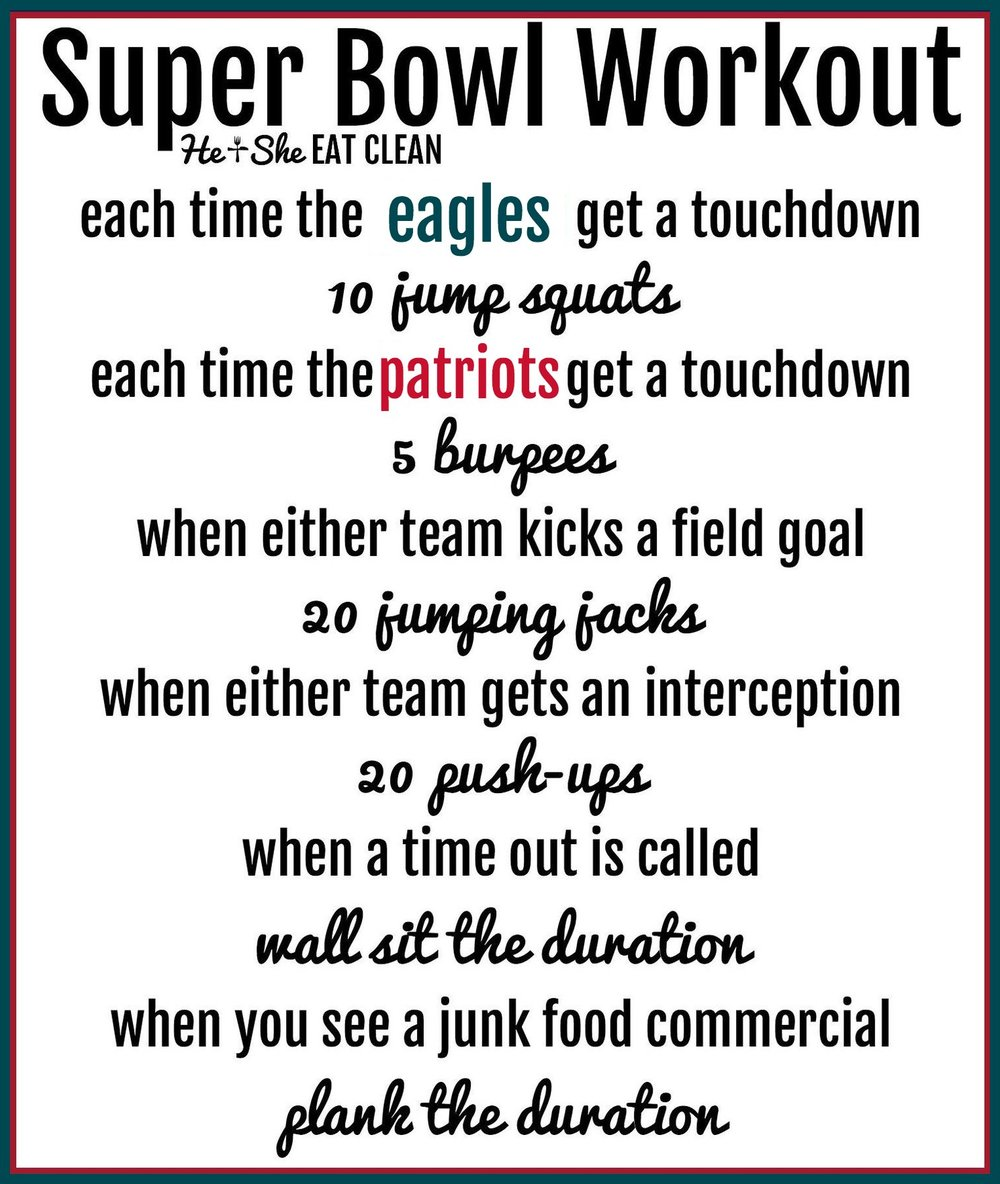 Super Bowl Workout 2018: Patriots vs Eagles