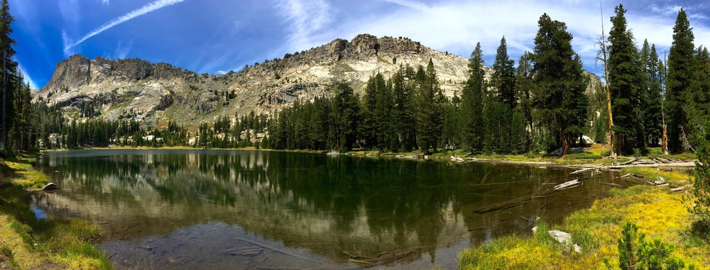 Just one of many High Sierra lakes in the Ten Lakes Basin.