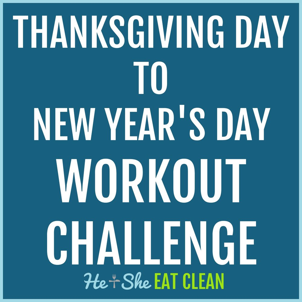 Thanksgiving Day to New Year's Day Workout Challenge