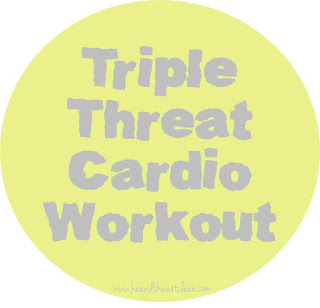 Meant to be a major challenge (you may not finish it the first few times around - keep it up though and you will get there), this workout will keep you guessing and since you are changing machines, hopefully keeping your attention. Triple Threat Cardio Workout | He and She Eat Clean