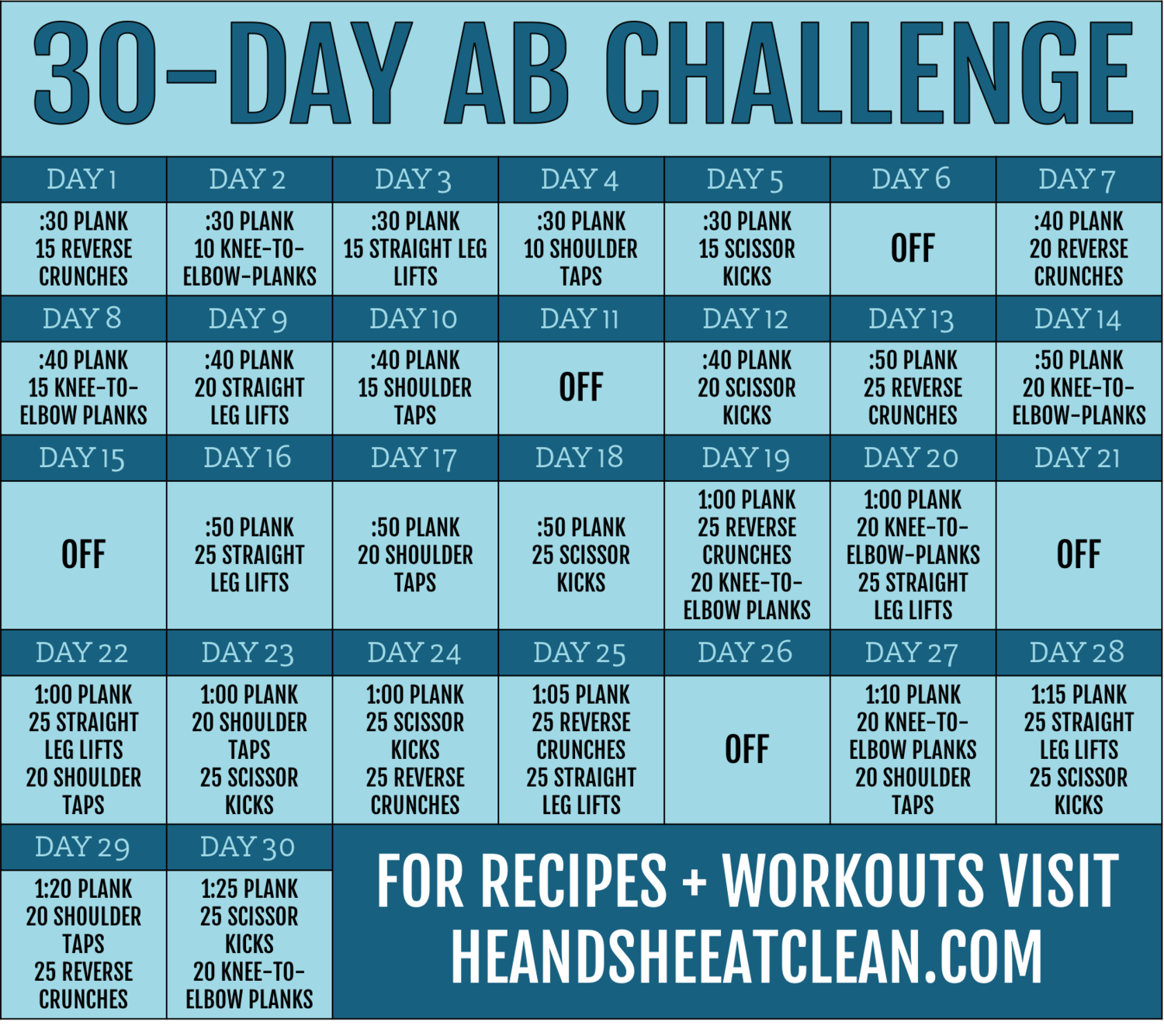 30 day ab fitness challenge. Black Bedroom Furniture Sets. Home Design Ideas