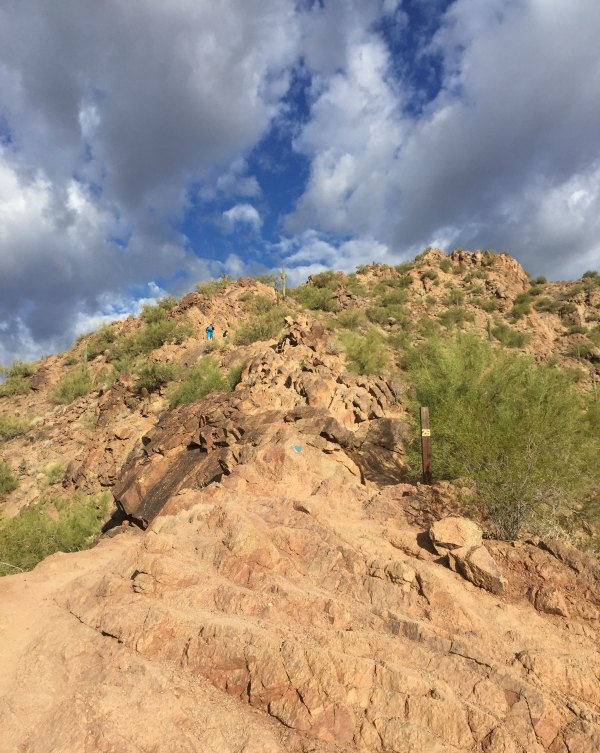 rock trail going up Camelback Mountain in Arizona