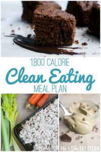 1,800 Calorie Clean Eating Meal Plan