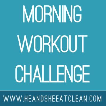 text reads Morning Workout Challenge