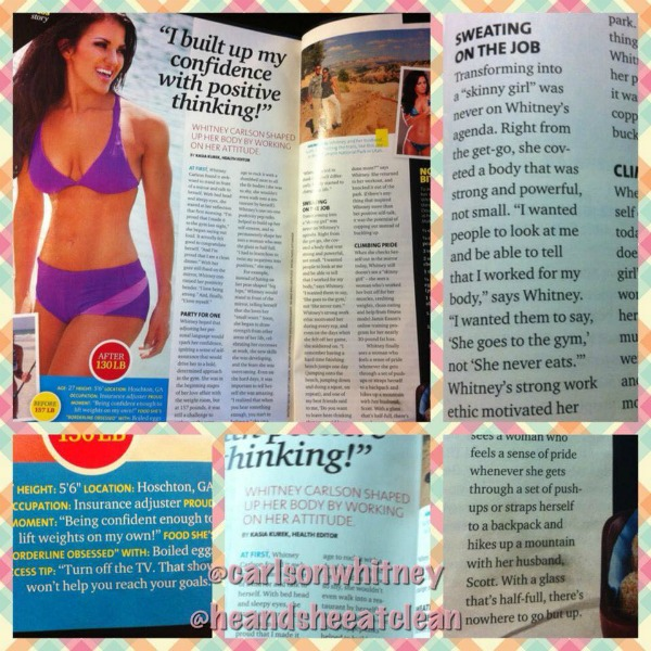 female feature in Oxygen Magazine - He and She Eat Clean, Whitney Carlson