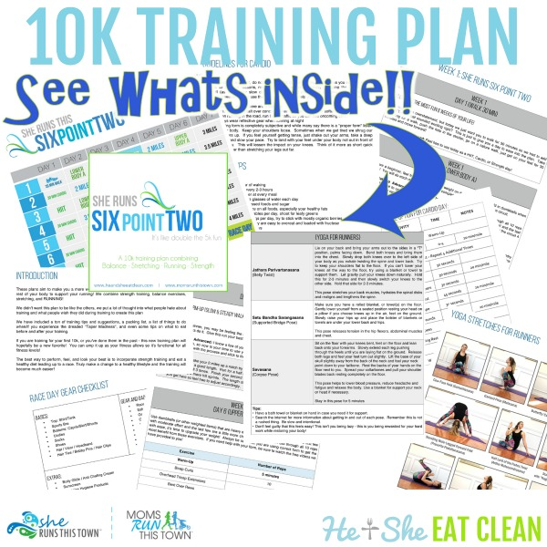 collage of 10k workout plan images