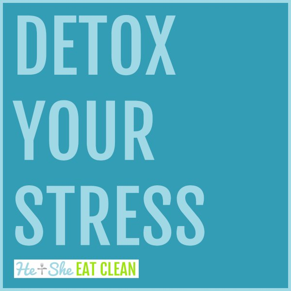 text reads detox your stress