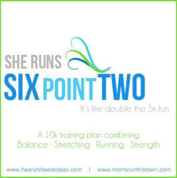 text reads She Runs Six Point Two it's like double the 5k fun