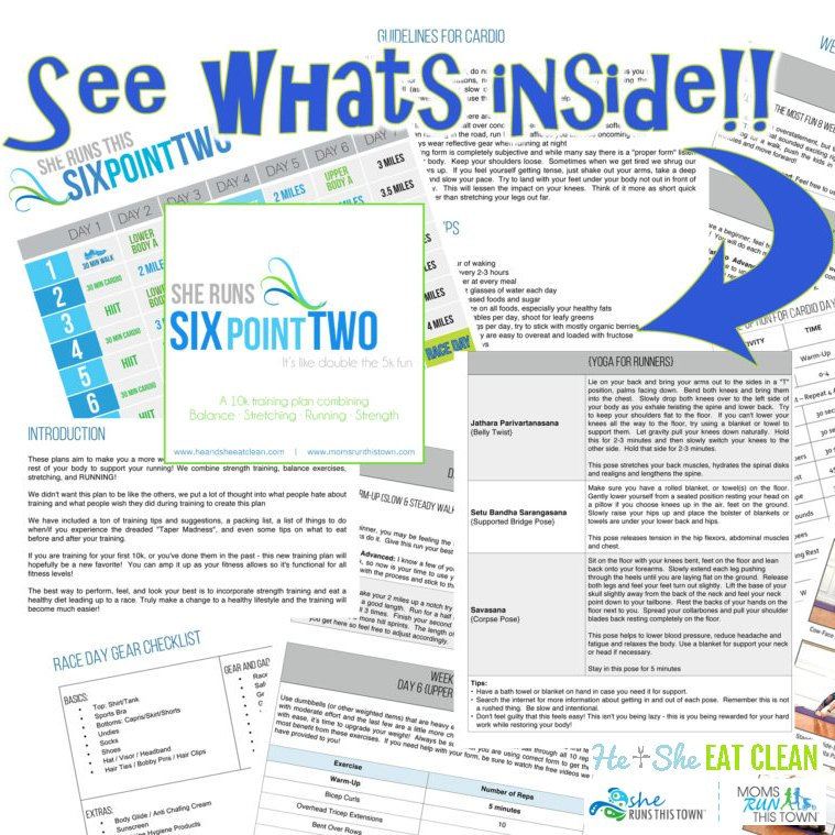 She Runs Six Point Two 10k Training Plan - See What's Inside!