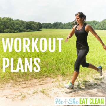 woman running with text that reads workout plans