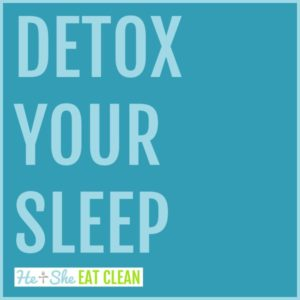 text reads Detox Your Sleep