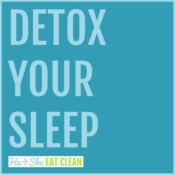 text reads Detox Your Sleep