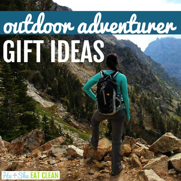 female in Grand Teton National Park looking out over the mountains with text that reads outdoor adventurer gift ideas