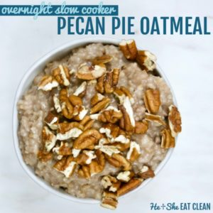 Pecan Pie Slow Cooker Overnight Oatmeal