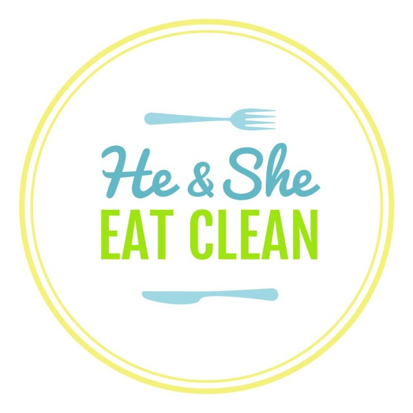 He and She Eat Clean Circle Logo