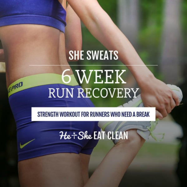 She Sweats 6-Week Run Recovery Workout Plan