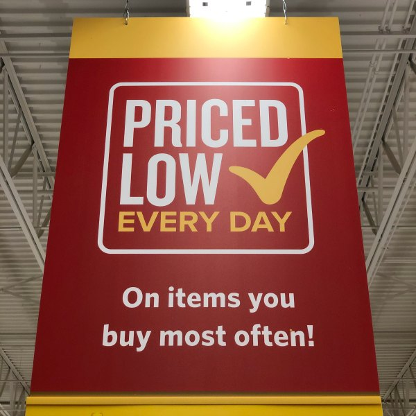 Food Lion sign Priced Low Every Day on items you buy most often