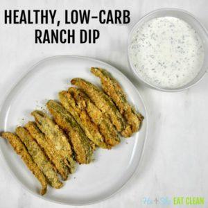 healthy low carb ranch dip