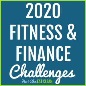 text reads 2020 fitness & finance challenges