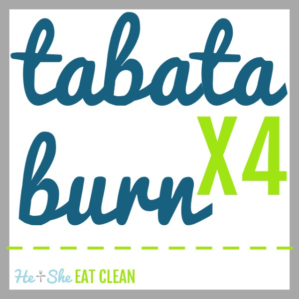 text reads tabata burn X4