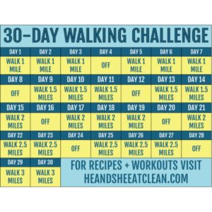 walking challenge calendar