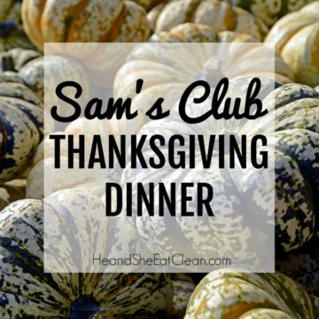 lots of pumpkins with text that reads Sam's Club Thanksgiving Dinner