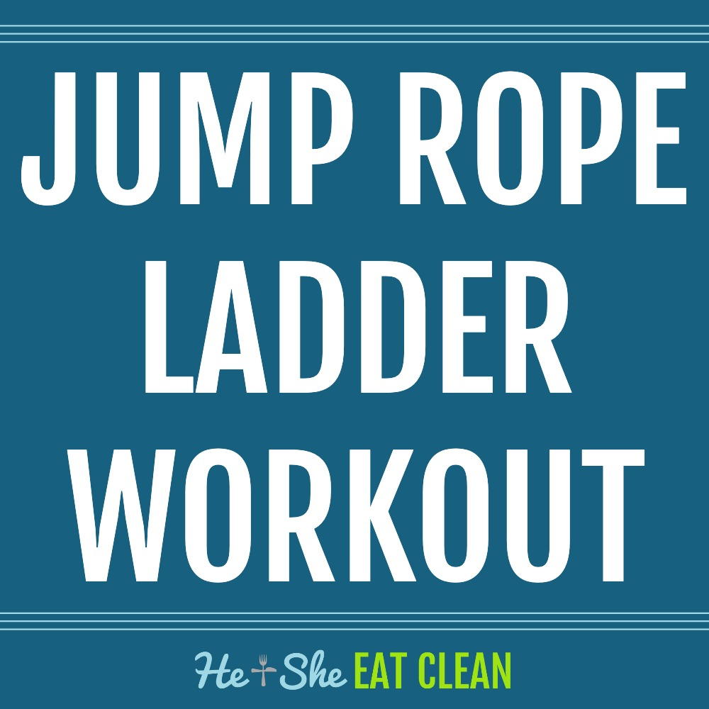 text reads jump rope ladder workout