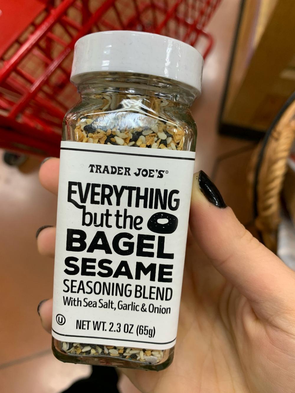 bottle of Everything but the Bagel seasoning mix