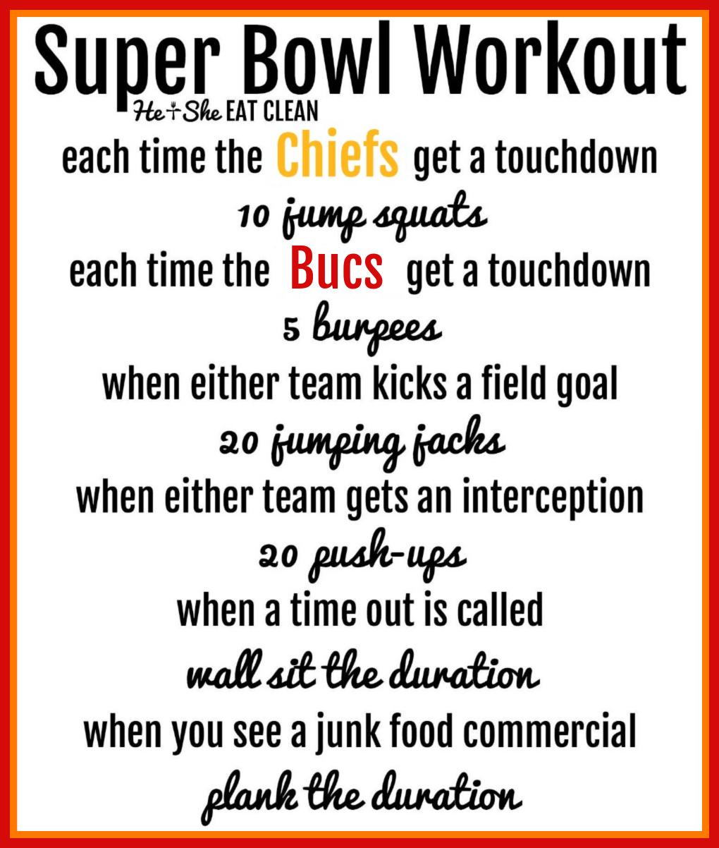 Super Bowl Workout - Chiefs VS Bucs