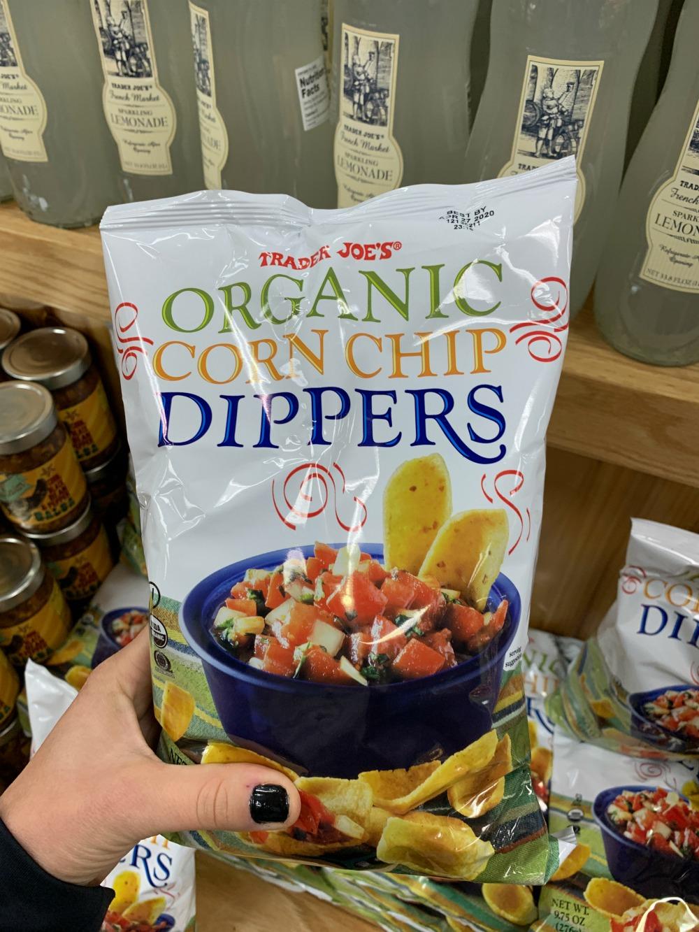 bag of Trader Joe's Organic Corn Chip Dippers